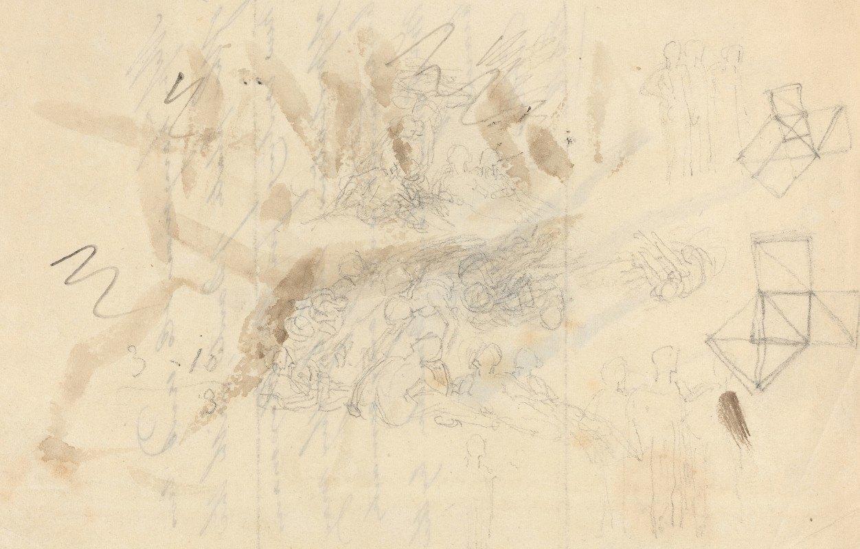 John Flaxman - Angels Descending to the Daughters of Men