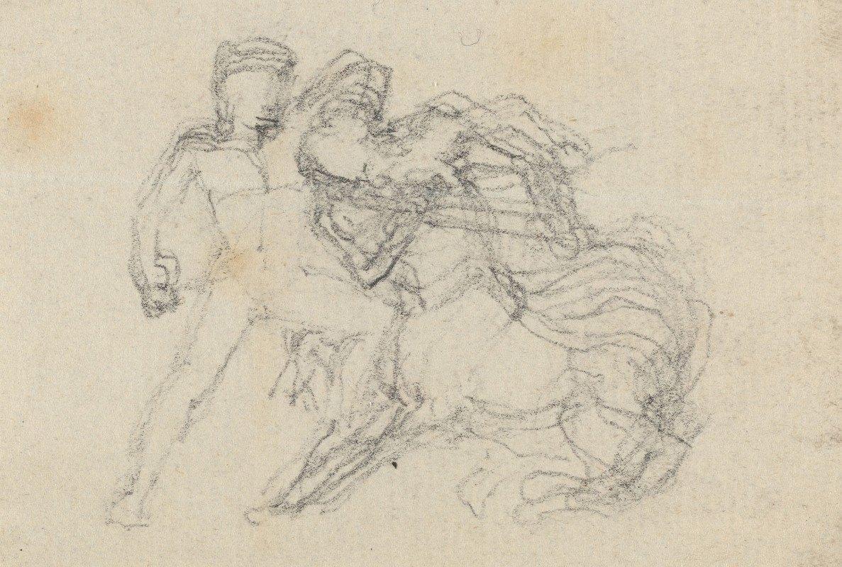 John Flaxman - Battle between Man and Centaur