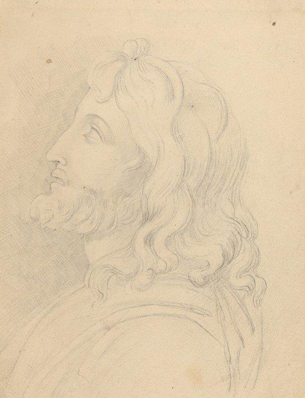 John Flaxman - Bust of a Bearded Man Looking Up