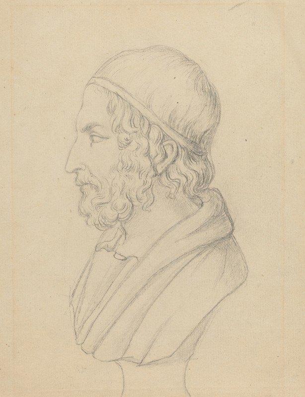 John Flaxman - Classical Portrait Bust of a Bearded Man