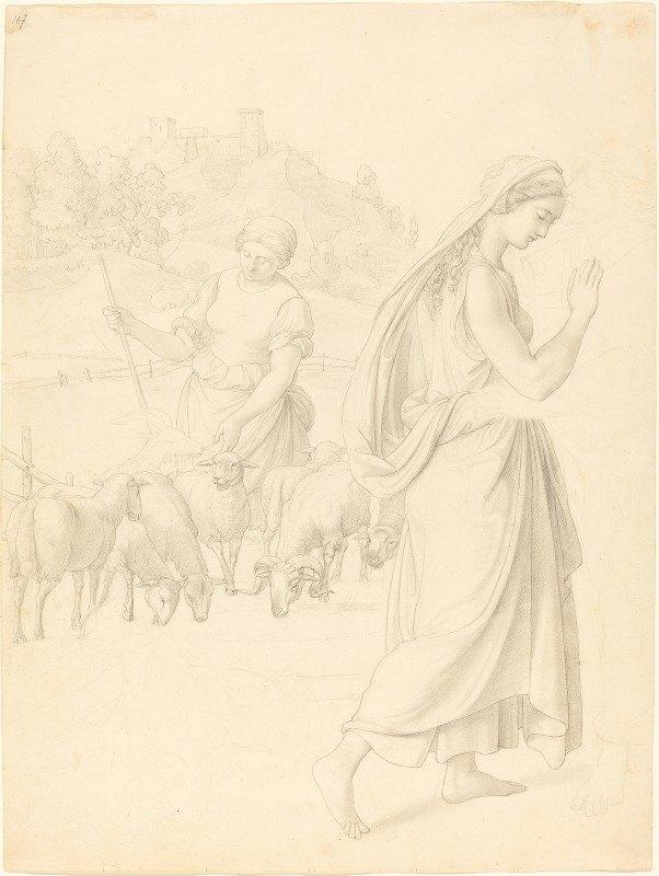 Joseph von Führich - The Meeting of Jacob and Rachel