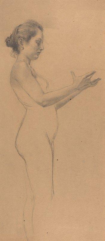Karel Vitezslav Masek - Female Nude with a Platter