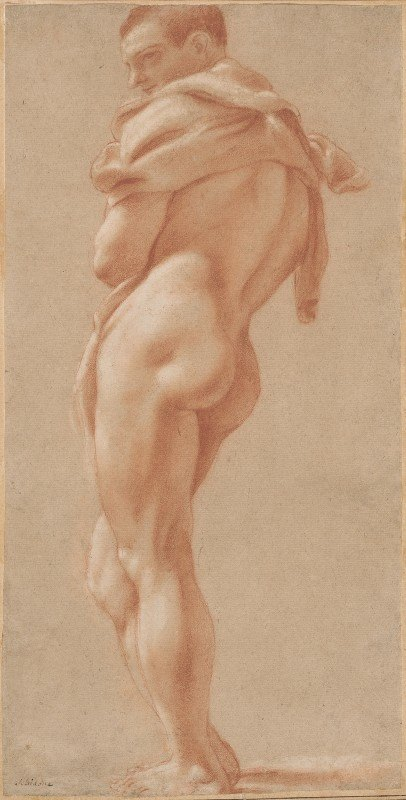 Pietro Faccini - Standing Male Nude Seen from Behind