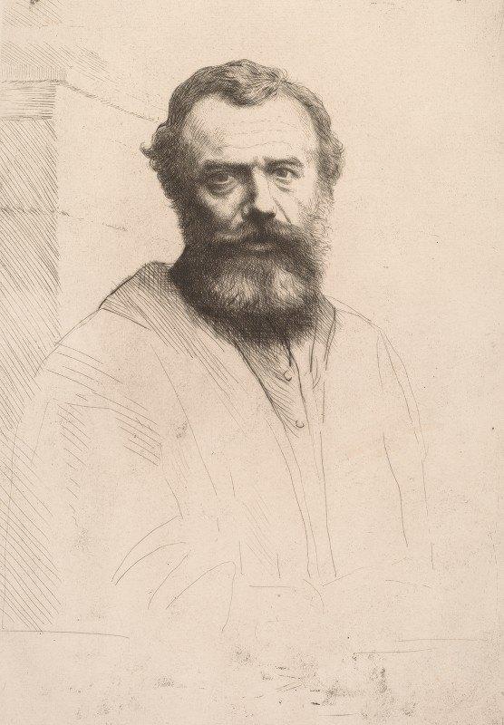 Alphonse Legros - Self-Portrait (Third Plate)