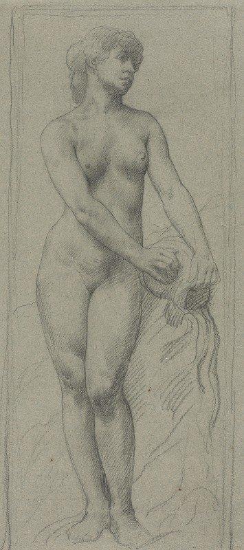 Alphonse Legros - Nude Woman