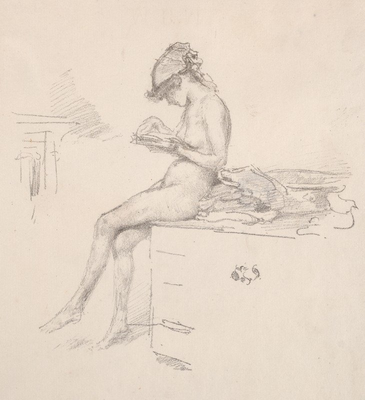 James McNeill Whistler - The Little Nude Model Reading