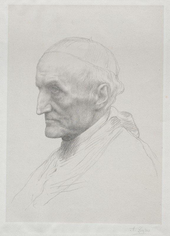 Alphonse Legros - Portrait of Cardinal Manning (2nd Plate)