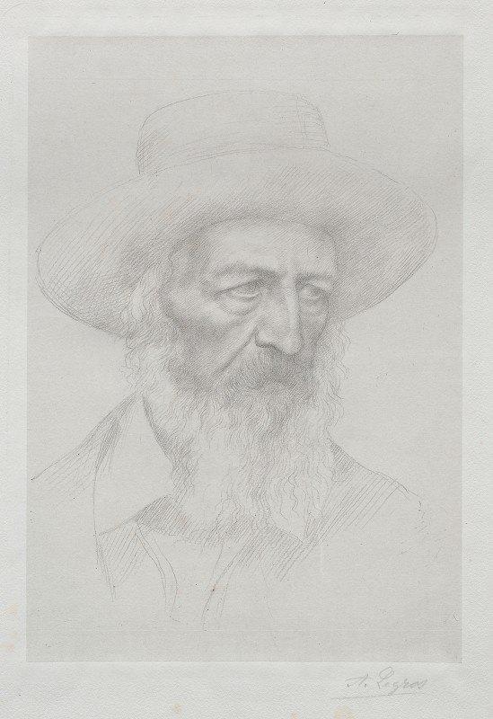 Alphonse Legros - Portrait of Alfred Lord Tennyson