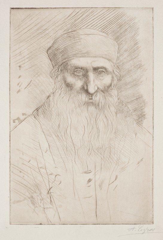 Alphonse Legros - Head of a Man with a Long Beard