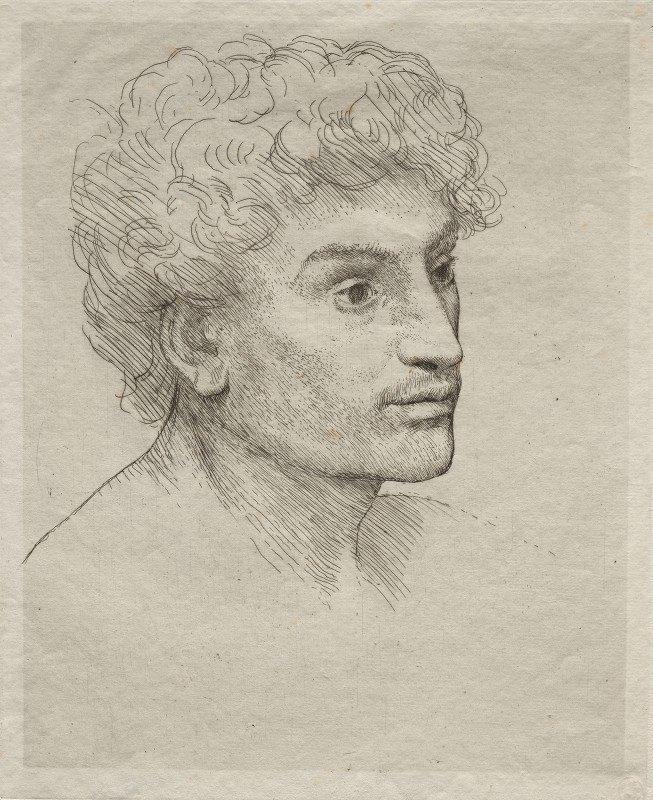 Alphonse Legros - Head of a Young Man