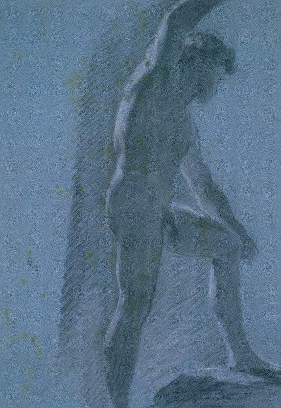 Pierre-Paul Prud'hon - Study of a Male Nude (verso)
