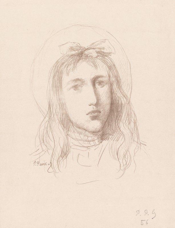 Pierre Puvis de Chavannes - Tête de Jeune Fille