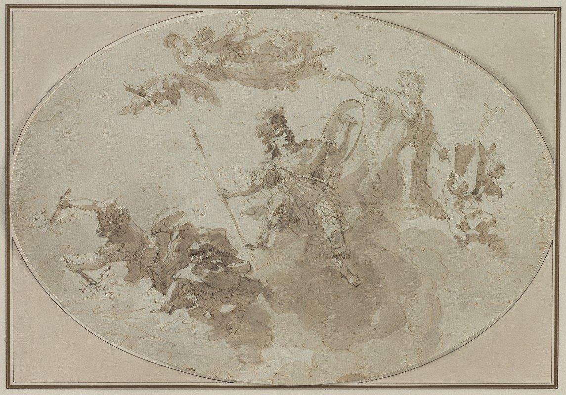 Giuseppe Bernardino Bison - Ceiling Study: Allegory of Peace and War
