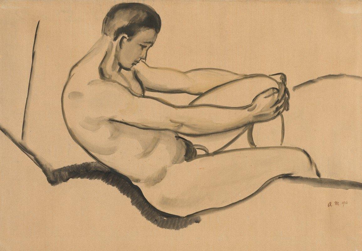 August Macke - Male Nude
