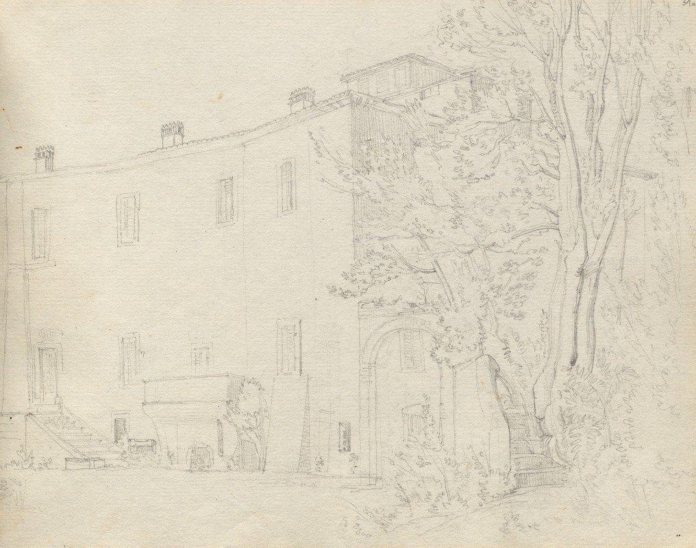 Franz Johann Heinrich Nadorp - Album with Views of Rome and Surroundings, Landscape Studies, page 31a: Roman Archtectural Study