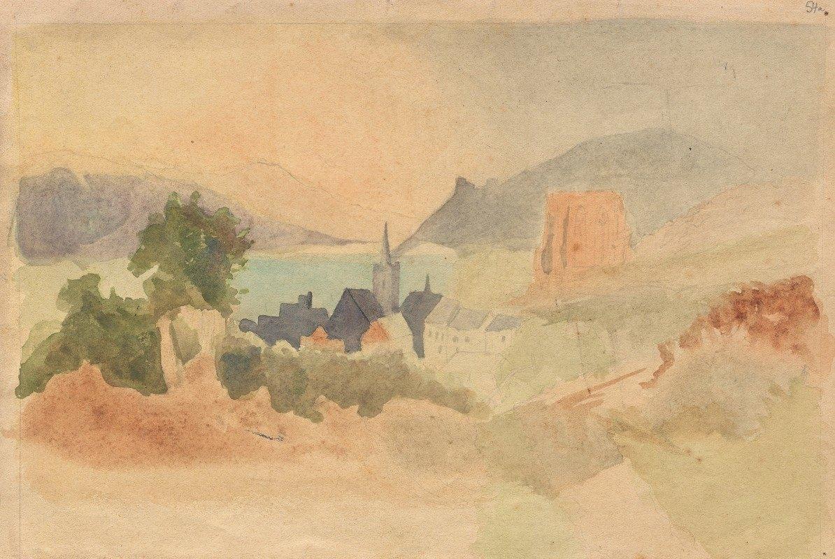 Franz Johann Heinrich Nadorp - Album with Views of Rome and Surroundings, Landscape Studies, page 54a: Roman Landscape