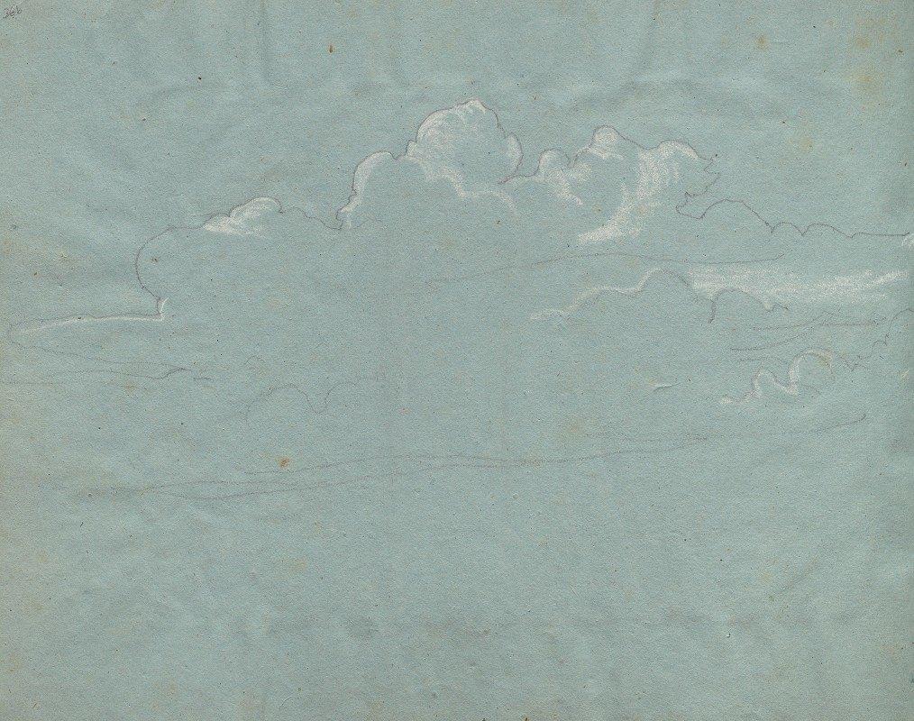 Franz Johann Heinrich Nadorp - Album with Views of Rome and Surroundings, Landscape Studies, page 36b: Cloud Study