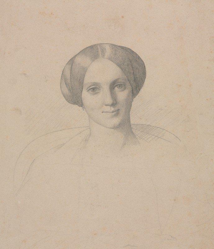 Jean-Léon Gérôme - Portrait Head of a Woman