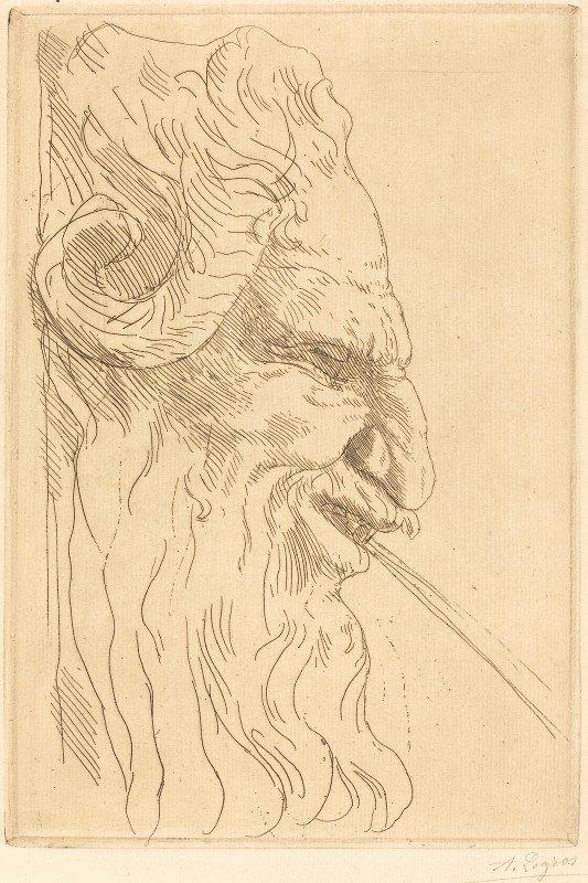 Alphonse Legros - Head of a Satyr (Tete de satyre)