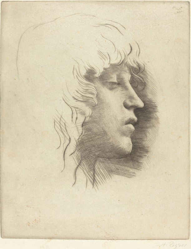 Alphonse Legros - Head of a Young Girl (Tete de jeune fille) III