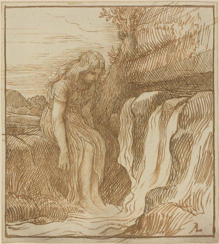 Alphonse Legros - Peasant at the Source