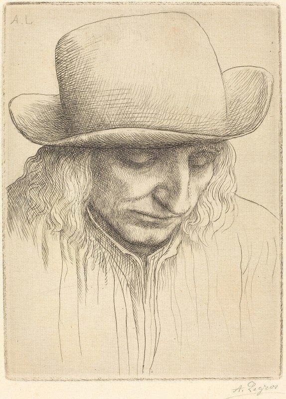 Alphonse Legros - Peasant in a Round Hat (Paysan avec chapeau rond)