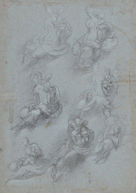 Camillo Boccaccino - Studies for the Virgin and Child (recto)