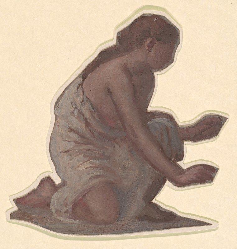 Elihu Vedder - Study for 'Greek Girls Bathing' XIII