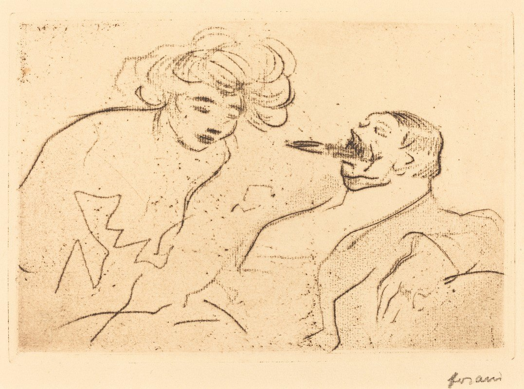 Jean-Louis Forain - The Big Cigar