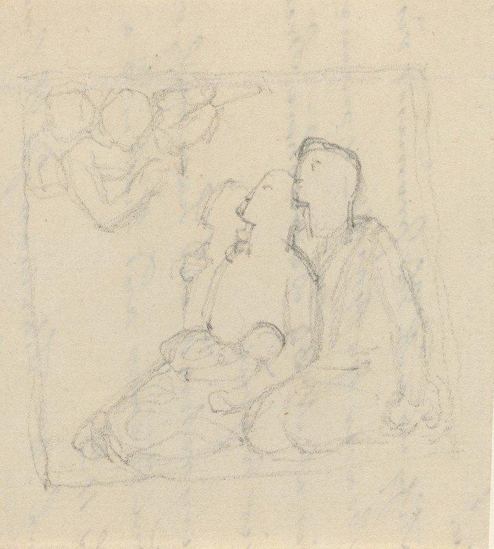 John Flaxman - Holy Family with Angels