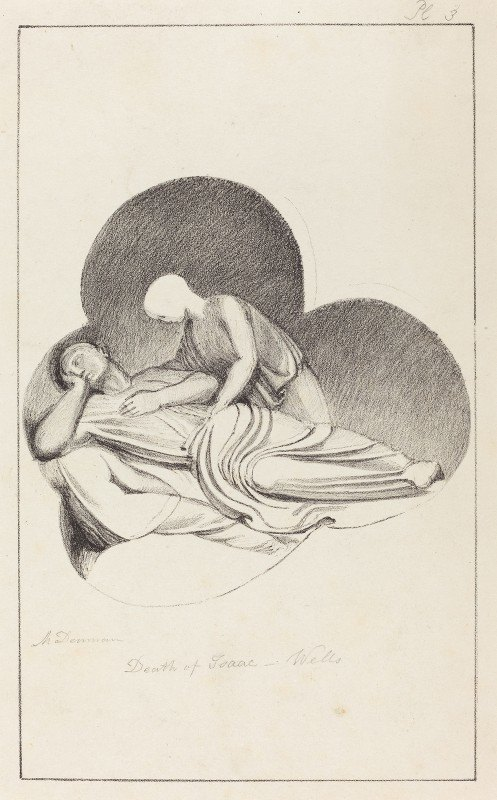 Maria Denman - Death of Isaac, from Wells Cathedral, published 1829