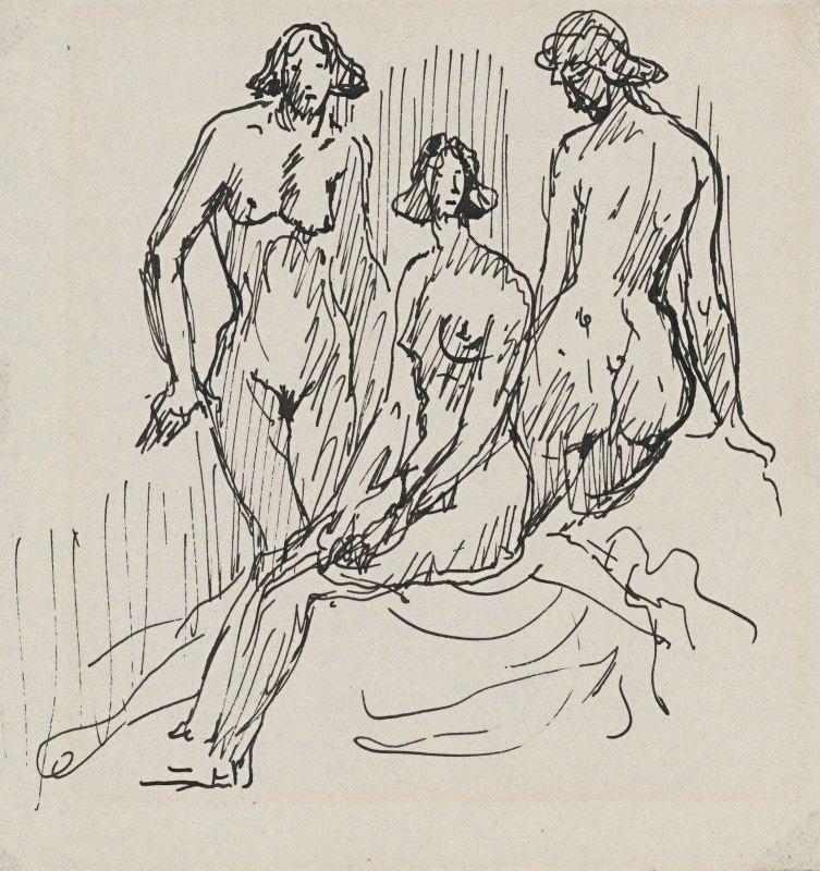 Arnold Peter Weisz-Kubínčan - Three female figures
