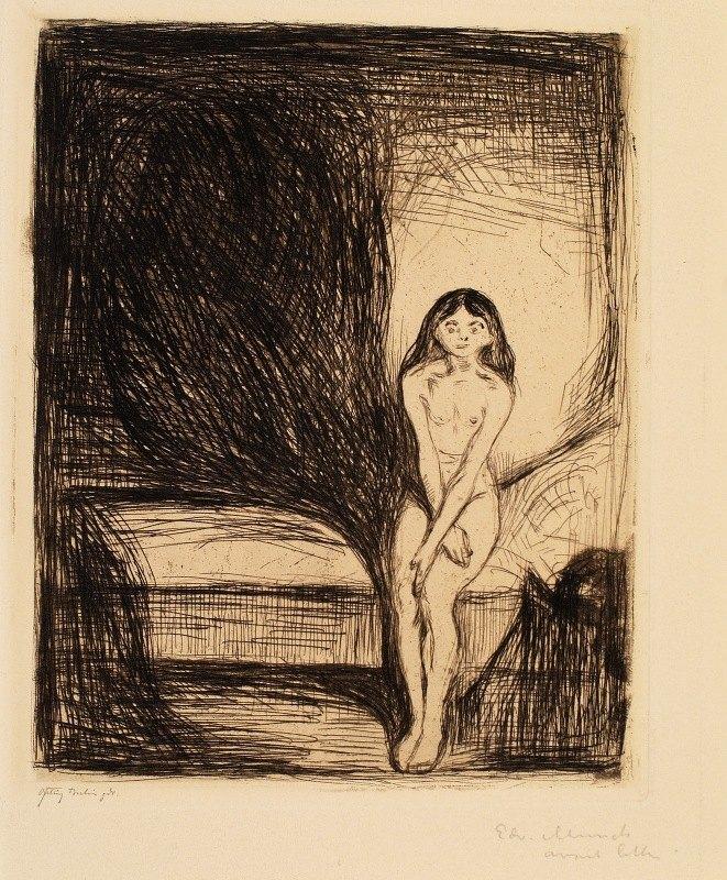 Edvard Munch - At Night (Puberty)