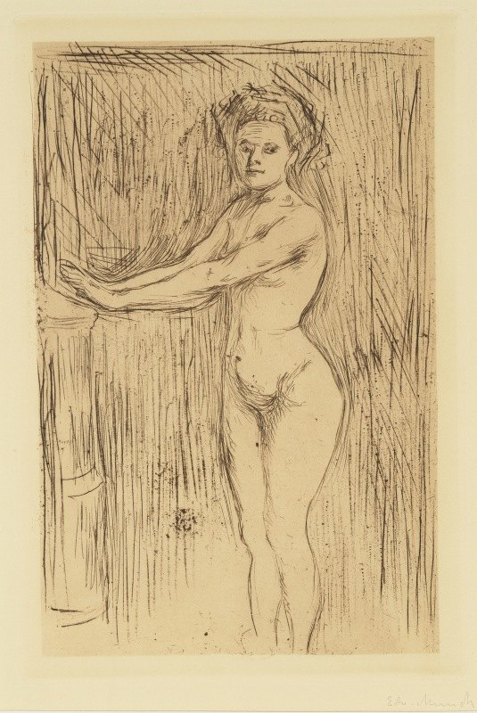 Edvard Munch - Nude Woman (Model Warming her Hands)
