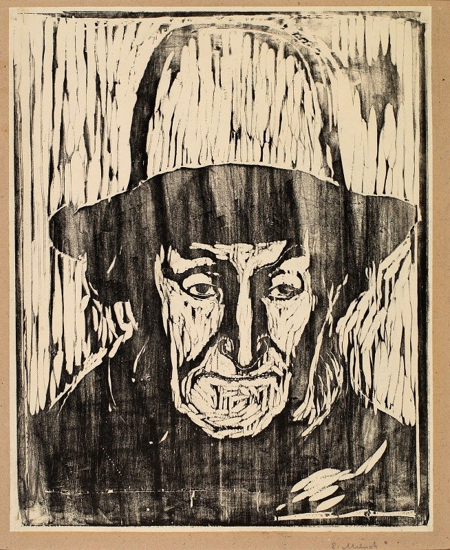 Edvard Munch - The Old Fisherman