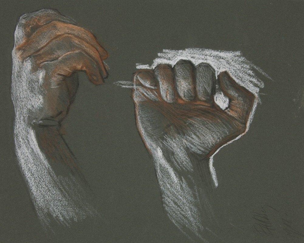 Edwin Austin Abbey - Sketch of twohands