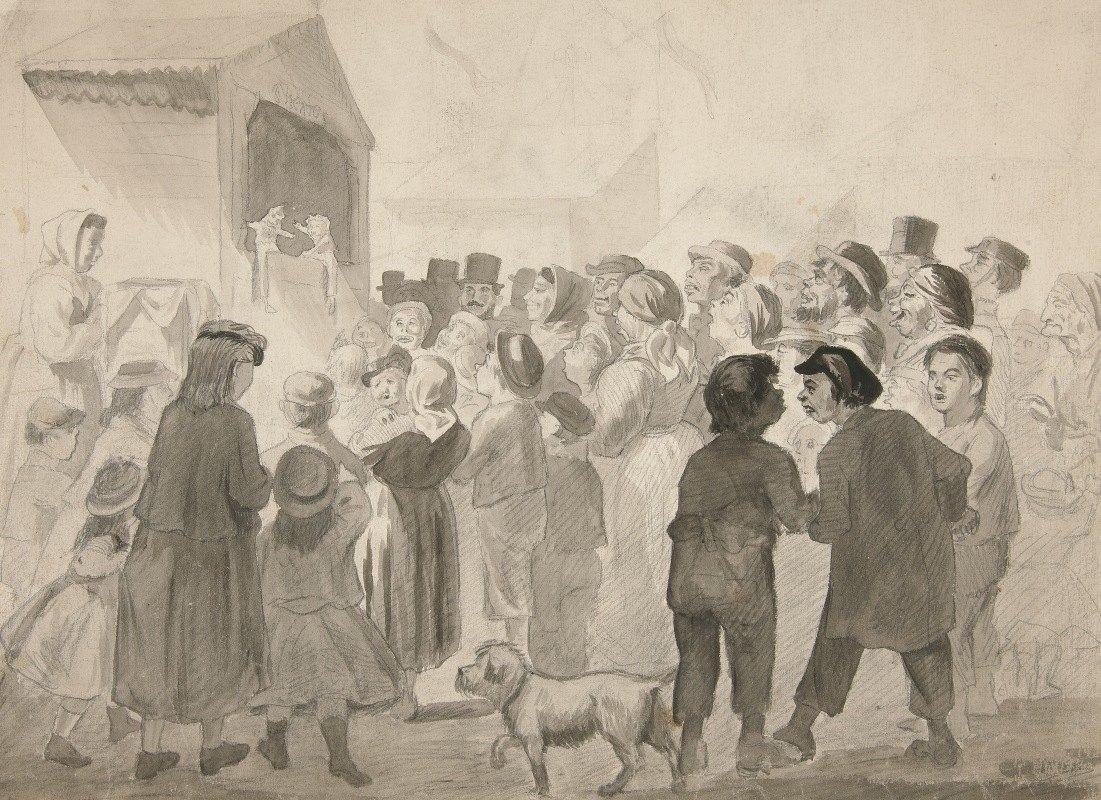Edwin Austin Abbey - Crowd Scene