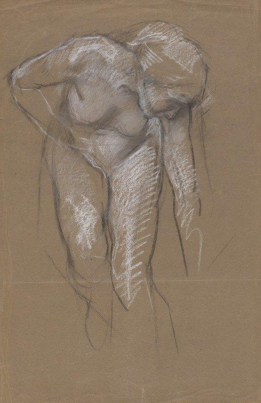Edwin Austin Abbey - Figure study for 'The Spirit of Light' mural