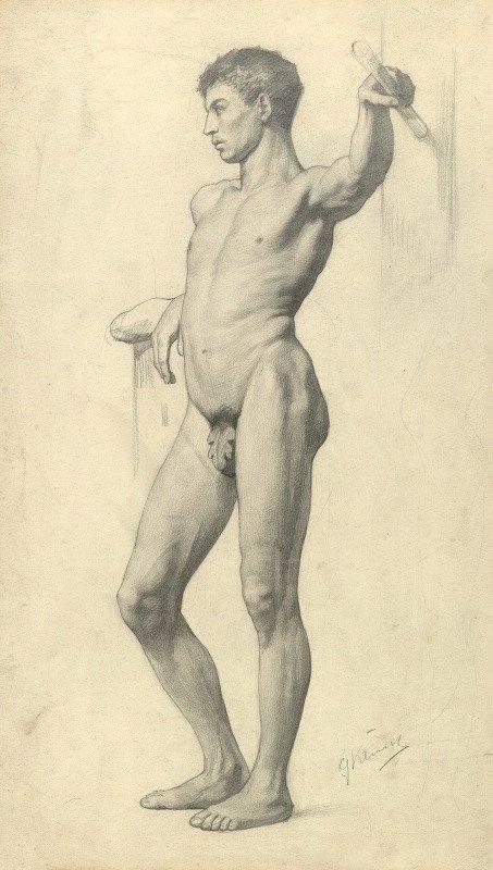 Gustav Klimt - Männlicher Akademieakt