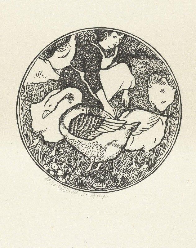Lucien Pissarro - Ganzenhoedster