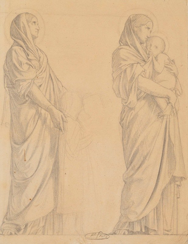 Jean-Hippolyte Flandrin - la procession des Saintes Femmes