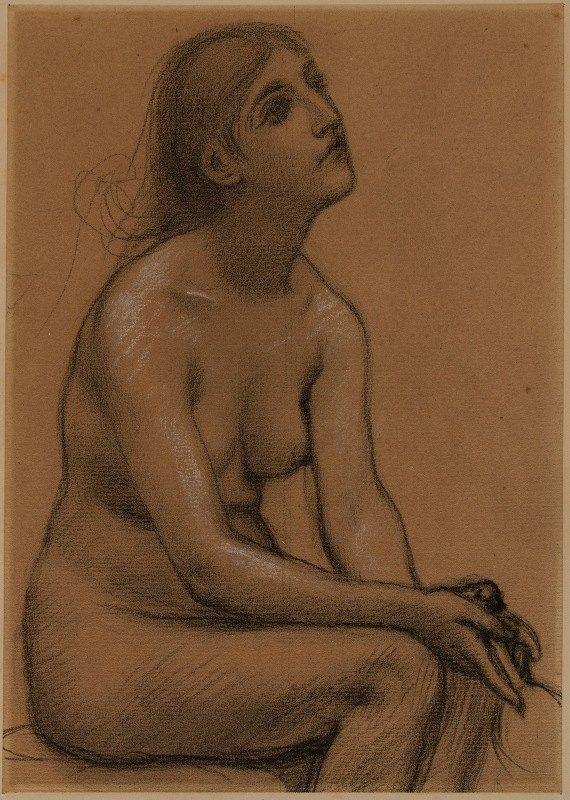 Pierre Puvis de Chavannes - Femme nue assise