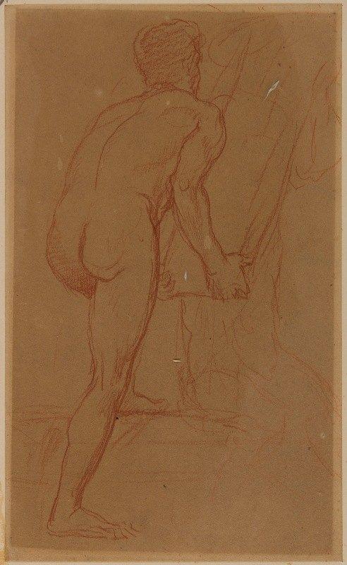 Pierre Puvis de Chavannes - Homme nu de dos