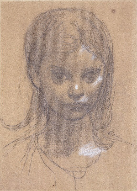 Pierre Puvis de Chavannes - Tête de fillette