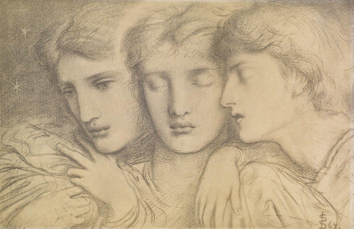 Simeon Solomon - The Sleepers and One that Watcheth