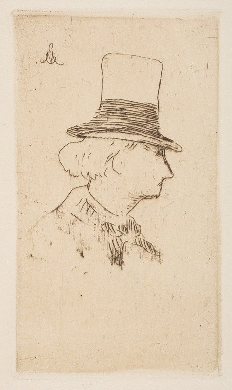 Édouard Manet - Portrait of Charles Baudelaire, in profile
