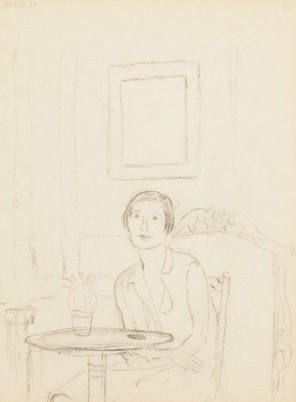 Frederick Carl Frieseke - sketchbook, sketch 5