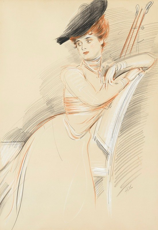 Paul César Helleu - Miss Taylor seated