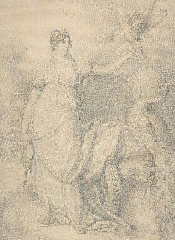 Richard Cosway - Lavinia, Countess Spencer as Juno