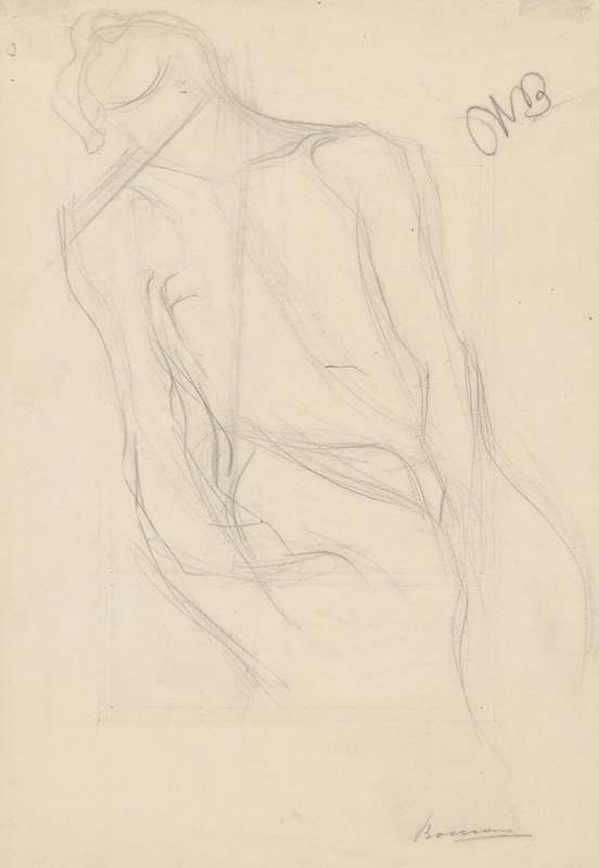 Umberto Boccioni - Seated Male Nude